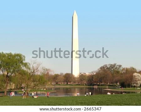 Washington Monument in Washington D.C. - stock photo