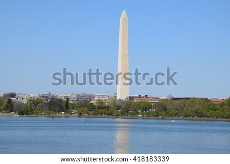 Washington Monument in Washington DC - stock photo
