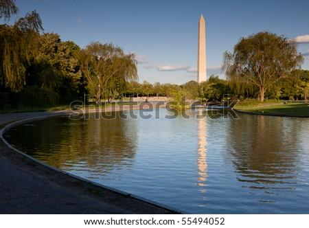 Washington Monument Reflection - stock photo