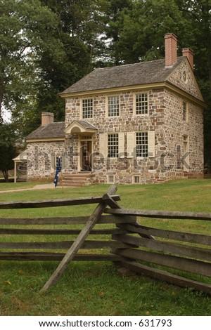 Washington's Headquarters at Valley Forge - stock photo