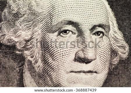 Washington's portrait on dollar - stock photo