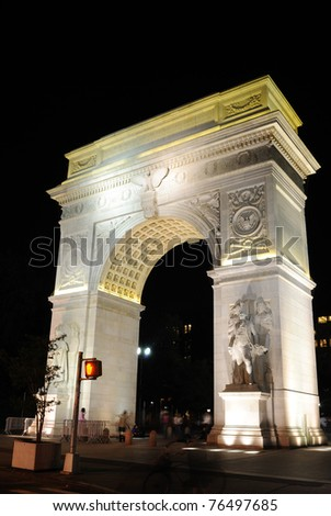 Washington Square Arch in New York City - stock photo