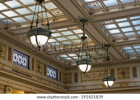 washington union station internal view - stock photo