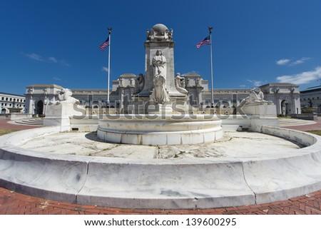 Washington union station view - stock photo