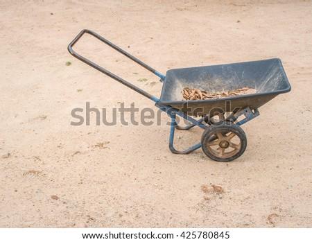 Waste cart - stock photo