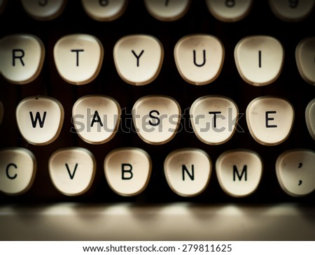 Waste concept - stock photo