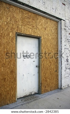 Waste Goes Here - stock photo