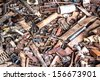 waste iron metals rusted - stock photo