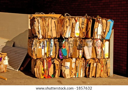 Waste management two - stock photo