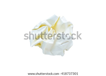 Waste Paper isolated on white background