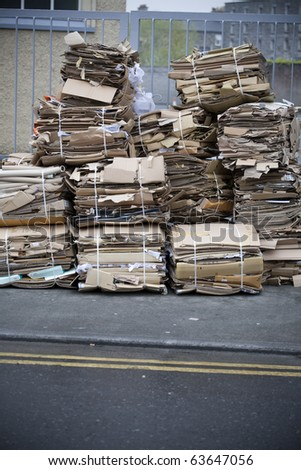Waste paper management. Recycling concept - stock photo