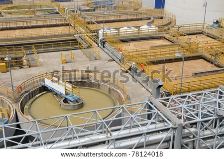 waste treatment facilities - stock photo