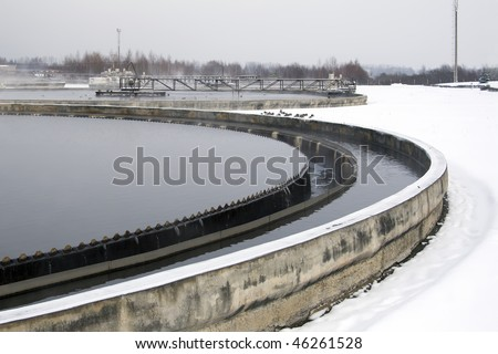 Waste-water treatment - stock photo