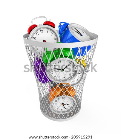 Wasting Time Concept - stock photo
