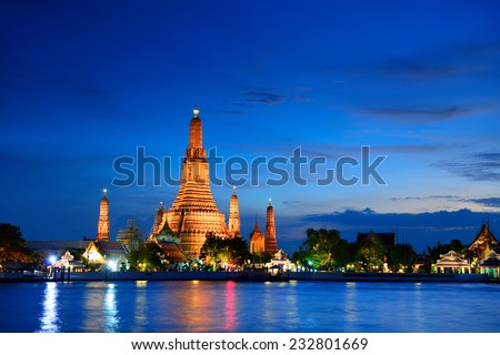 Wat Arun, Bangkok, Thailand - stock photo