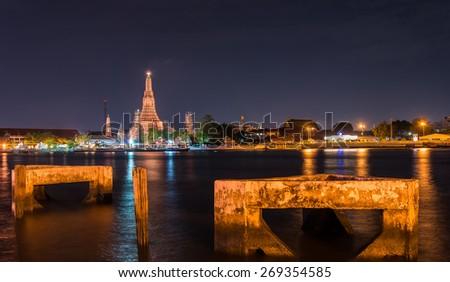 Wat Arun, Bangkok, Thailand - stock photo