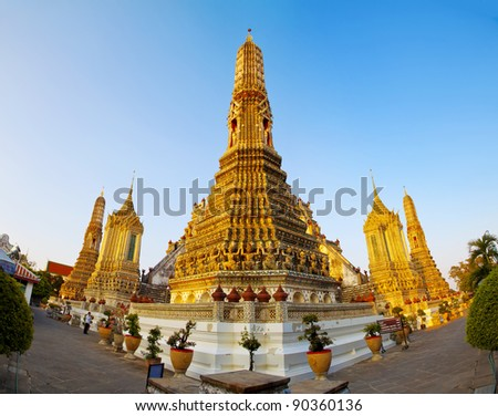 Wat Arun, Bangkok Thailand, Wat Arun is one of Bangkok - stock photo