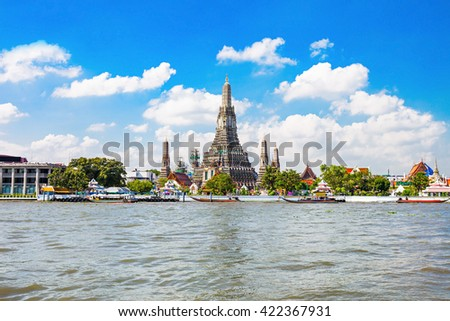 Wat Arun is a Buddhist temple in Bangkok, Thailand - stock photo