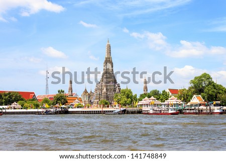 Wat Arun temple in Bangkok,Thailand - stock photo