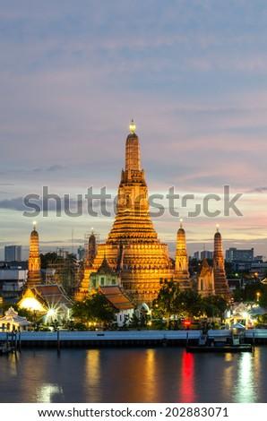 Wat Arun Temple in Bangkok ,Thailand - stock photo