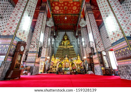 Wat Arun thai temple in bangkok - stock photo