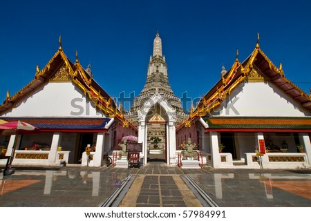 Wat Arun, The Temple of Dawn, Bangkok, Thailand - stock photo