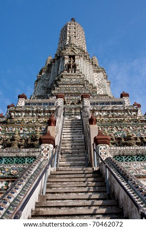 Wat Arun The Temple of Dawn Bangkok Thailand. - stock photo