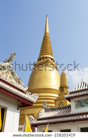 Wat Bowonniwet Vihara temple Bangkok, Thailand - stock photo