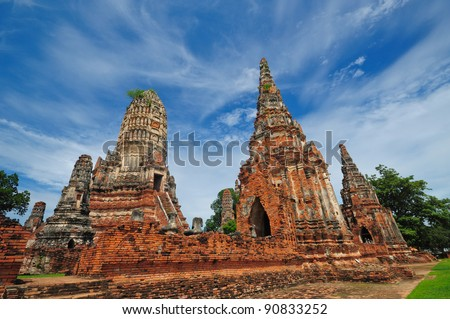 Wat Chaiwatthanaram Temple. Ayutthaya Historical Park, Thailand - stock photo