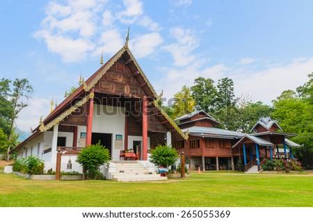 Wat Nam Hu , Pai, Mae Hong Son, Thailand - stock photo