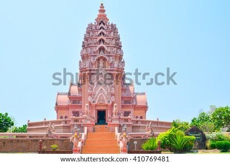 Wat Pa Kao Noi,Temple of Buddha in Buriram   - stock photo