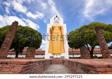 Wat Phar Sri Rattana Mahathat. Temple, Phitsanulok in Thailand - stock photo