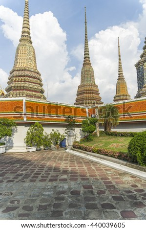 Wat Pho, Bangkok, Thailand, Southeast Asia - stock photo