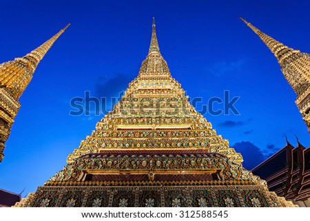 Wat Pho is a Buddhist temple complex in Phra Nakhon district in Bangkok, Thailand - stock photo