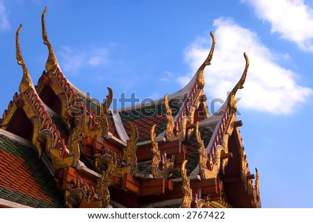wat pho temple detail