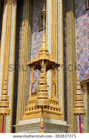 Wat Phra Kaew (Temple of the Emerald Buddha) Bangkok, Thailand