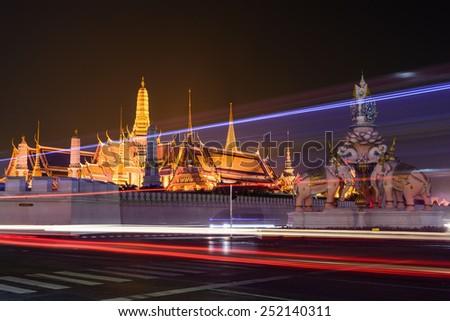 Wat Phra Kaew, Temple of the Emerald Buddha in Bangkok, Thailand - stock photo