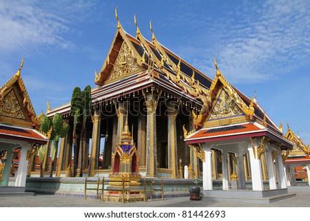 Wat Phra Keao Temple in Grand Palace, Bangkok Thailand. - stock photo