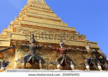 Wat Phra Keaw / landmark in Thailand. - stock photo
