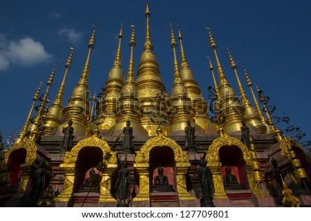 Wat Phra Mongkol Kiri, Phrae Province, Thailand. - stock photo