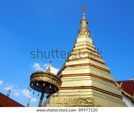Wat Phra That Chor Hae, temple in Phrae, Thailand - stock photo