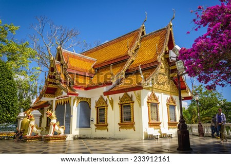 Wat Phra That Doi Suthep, Chiang Mai, Thailand  - stock photo