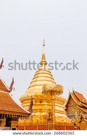Wat Phra That Doi Suthep in Chiang Mai, Thailand - stock photo