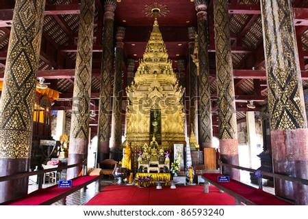 Wat Phra That Lampang Luang.Lampang Province,Thailand - stock photo
