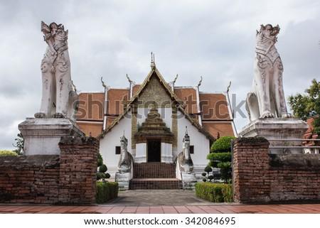 Wat Phu Mintr buddishm temple at Nan Province - stock photo
