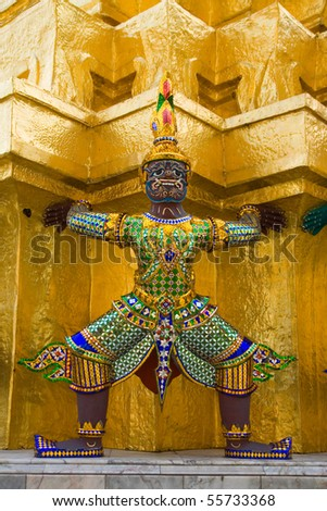 Wat pra kaew Grand palace bangkok - stock photo