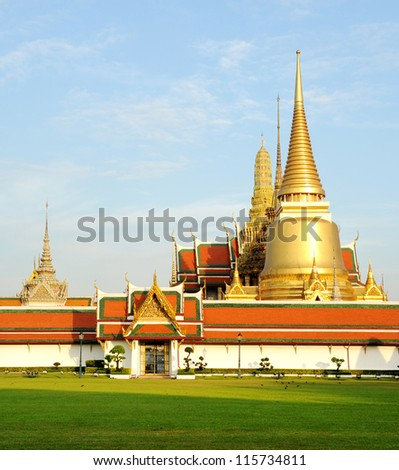 Wat Pra Kaew Royal Palace in Bangkok, Thailand - stock photo