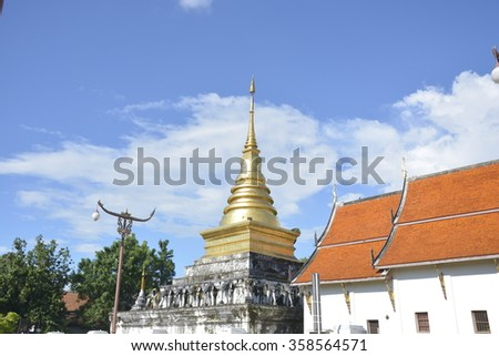Wat Pra Tard Chang Kum temple in Nan Province, Thailand,temple,