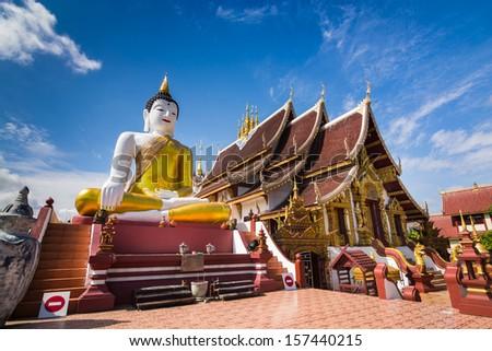 Wat Rajamontean Temple of Chiangmai Thailand - stock photo