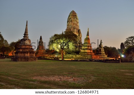 Wat Ratchaburana in Ayutthaya (Thailand) - stock photo